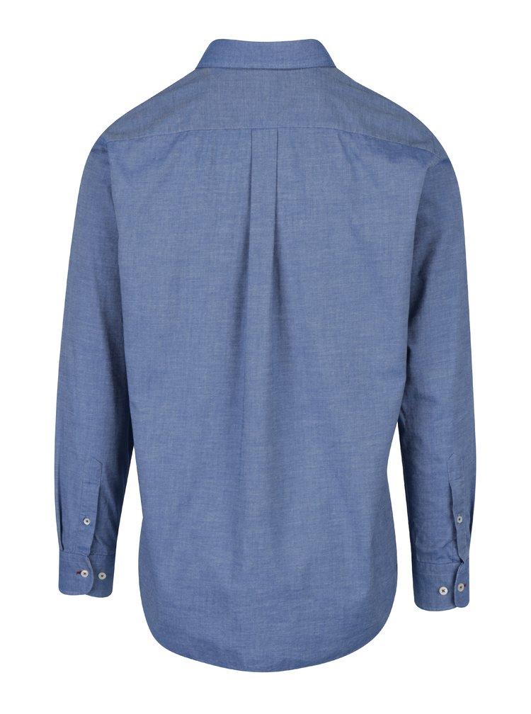 Camasa informala albastra cu guler buttons down - Fynch-Hatton