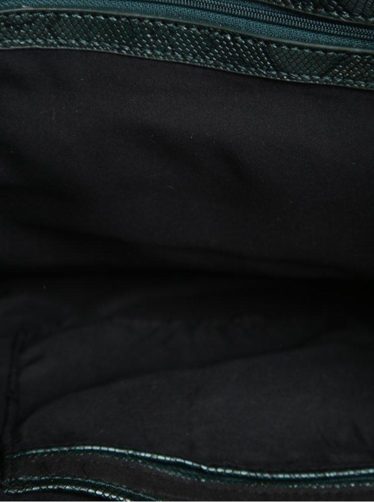 Geanta neagra shopper si crossbody 2 in 1 cu broderie multicolora Desigual Florida Boby