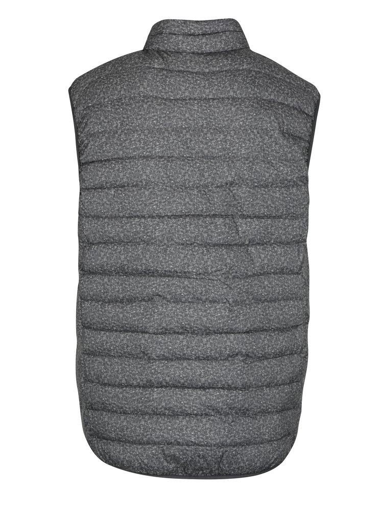 Šedá pánská prošívaná voděodpudivá vesta Quiksilver