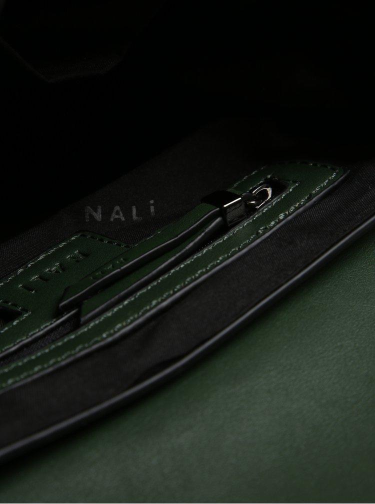 Geanta crossbody verde cu bareta din lant metalic Nalí