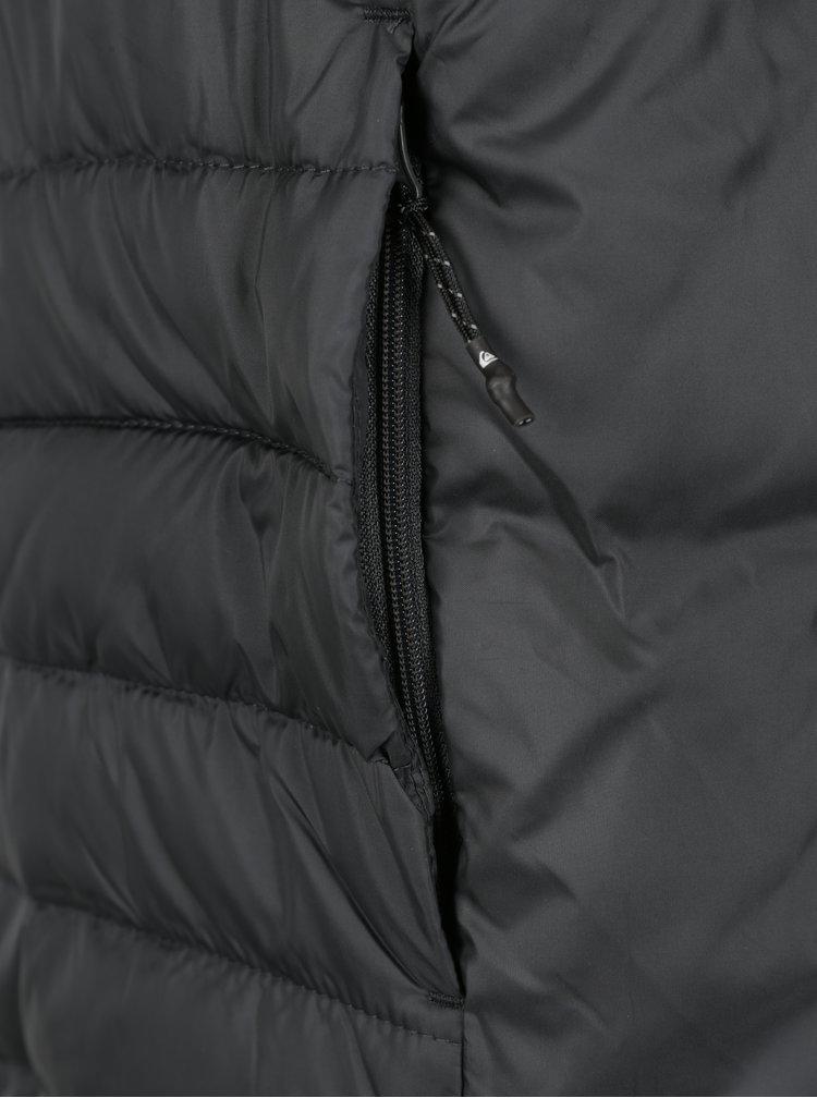 Černá pánská prošívaná voděodpudivá bunda Quiksilver