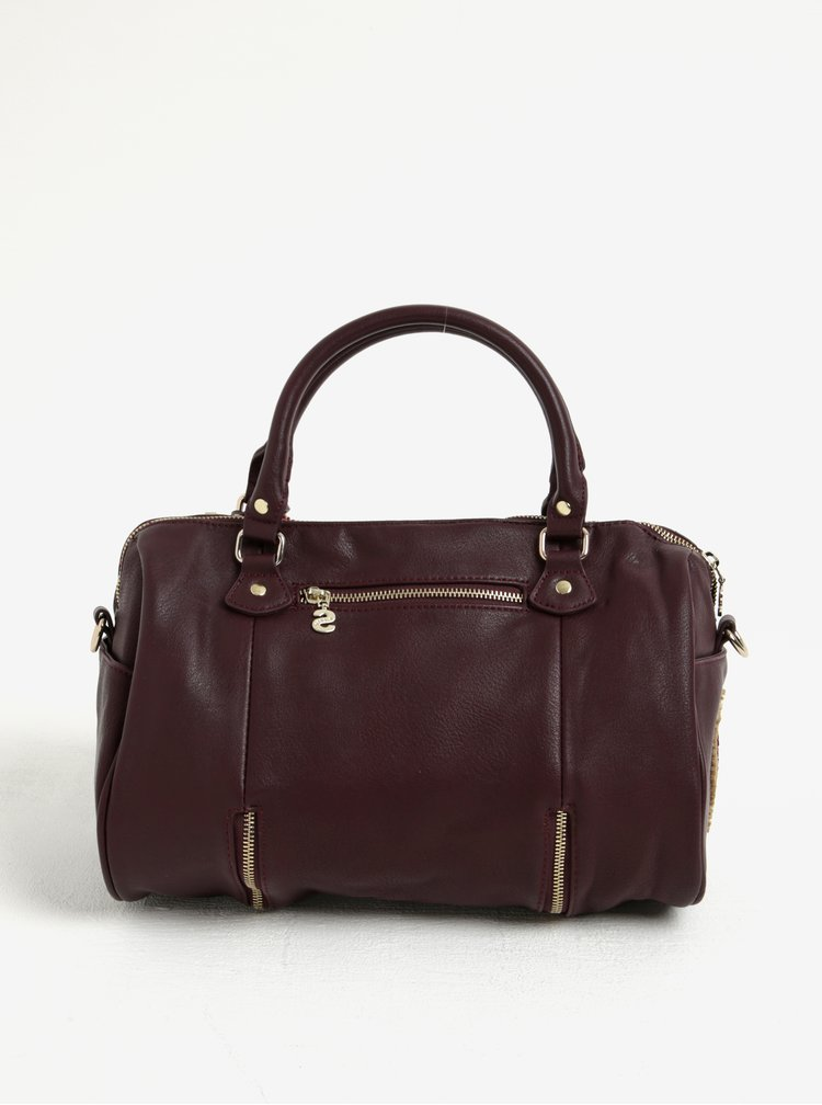 Vínová vzorovaná kabelka do ruky/crossbody kabelka Desigual Sidney Rubi