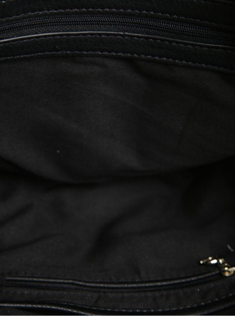 Geanta neagra de mana cu aplicatii Desigual Sidney Rubi