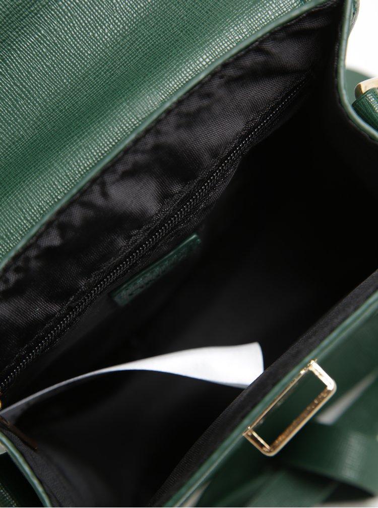 Zelená crossbody kabelka s detaily ve zlaté barvě ONLY Dysla