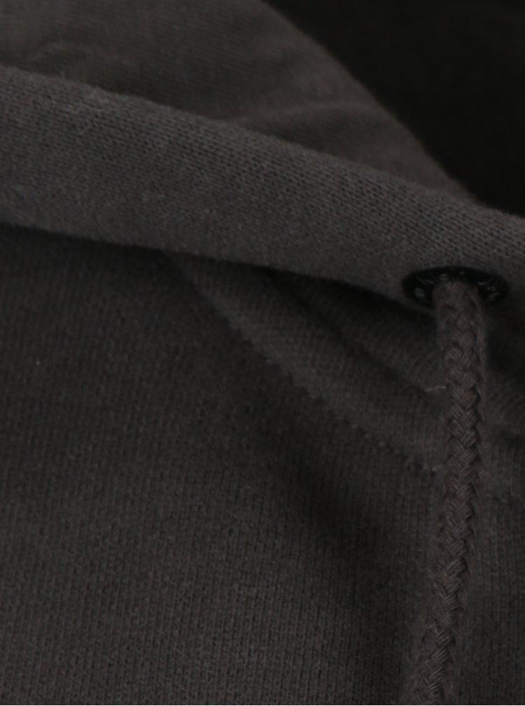 Tmavě šedá dámská mikina s kapucí a potiskem Calvin Klein Jeans Hali