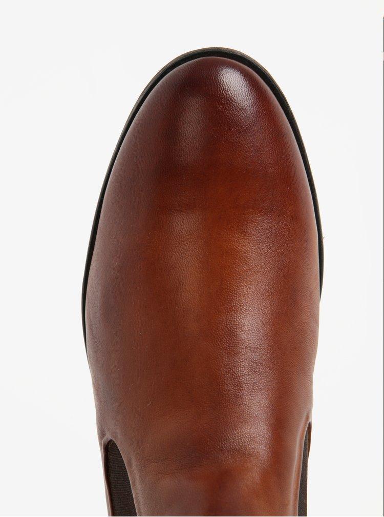 Ghete chelsea maro din piele naturala pentru barbati - bugatti Lothario