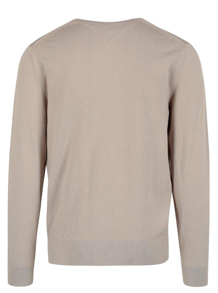 Béžový pánský svetr Tommy Hilfiger Compact