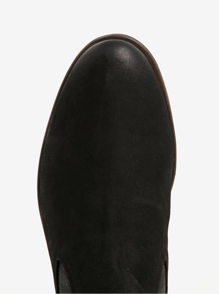 Černé pánské kožené chelsea boty bugatti Lothario