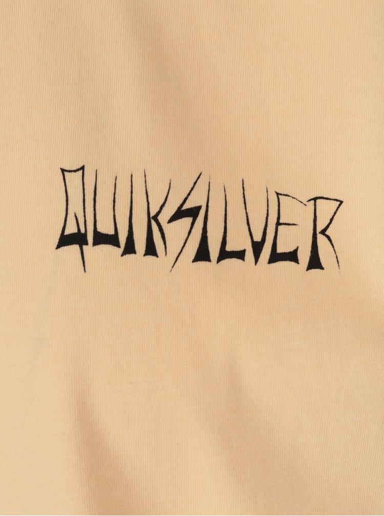 Tricou portocaliu cu print Quiksilver