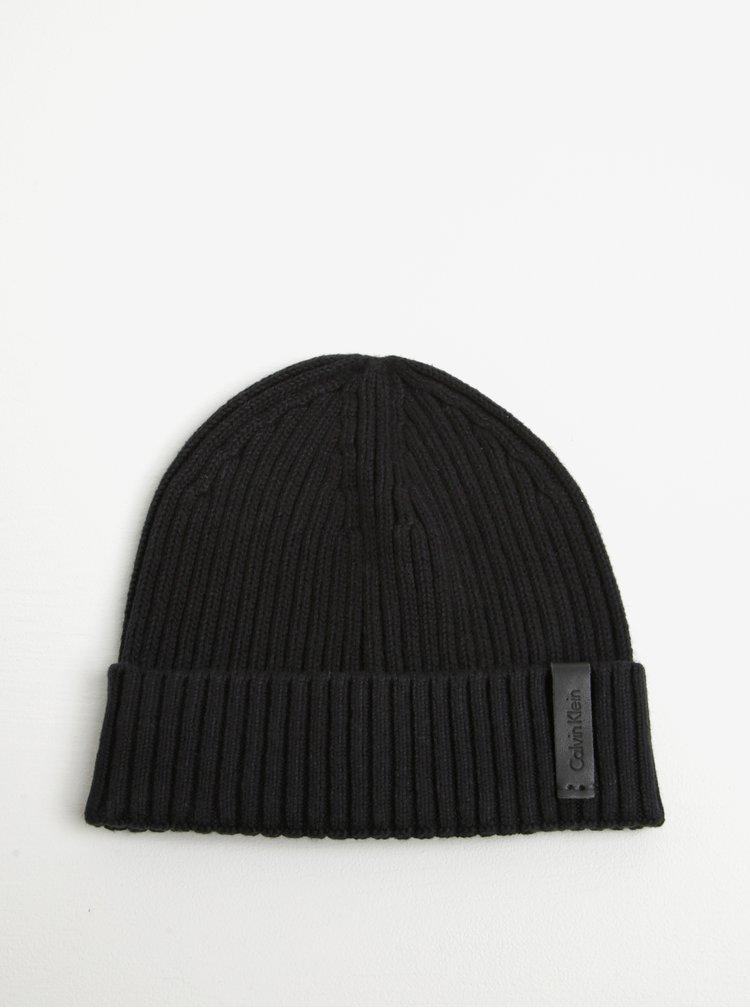 Černý pánský set čepice a šály Calvin Klein Jeans Octave