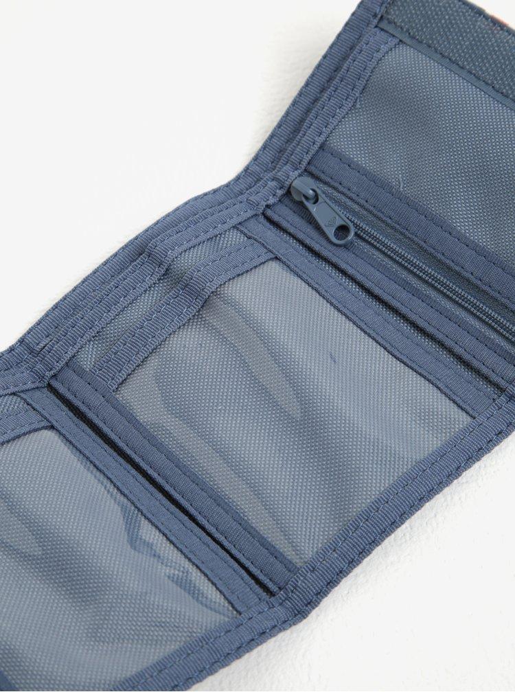 Krémovo-modrá vzorovaná peněženka Roxy Small Beach