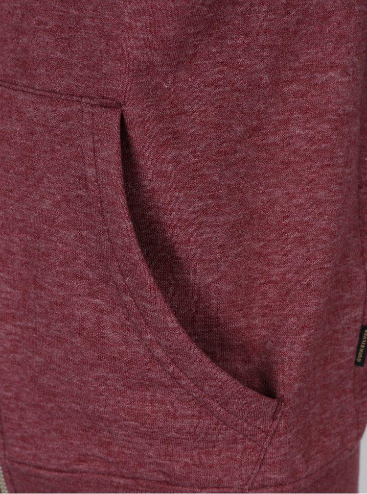 Šedo-vínová klučičí žíhaná mikina na zip Quiksilver