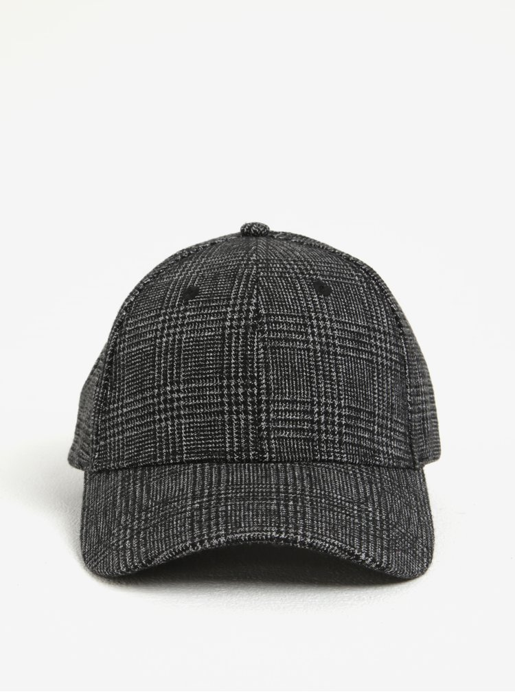 Černá vzorovaná kšiltovka Selected Homme Porter