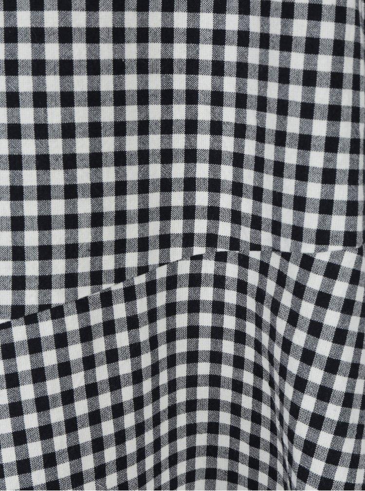 Krémovo-černé volné kostkované šaty VILA Bayla