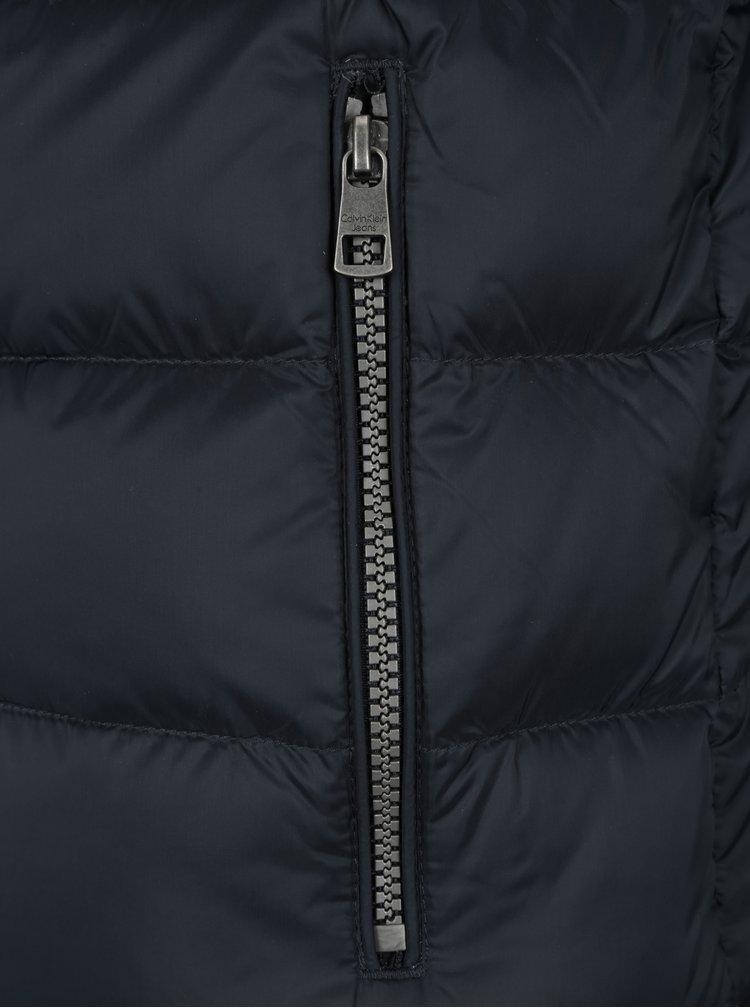 Černý pánský prošívaný bomber Calvin Klein Jeans Opron