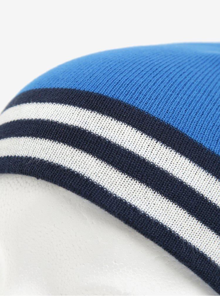 Modrá klučičí čepice s pruhy name it Manto