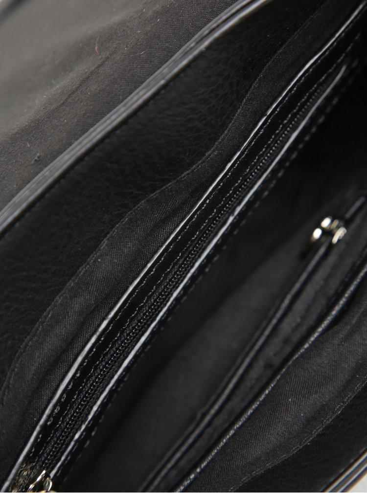 Geanta crossbody neagra cu detalii catifelate - Desigual Varsovia Rubi