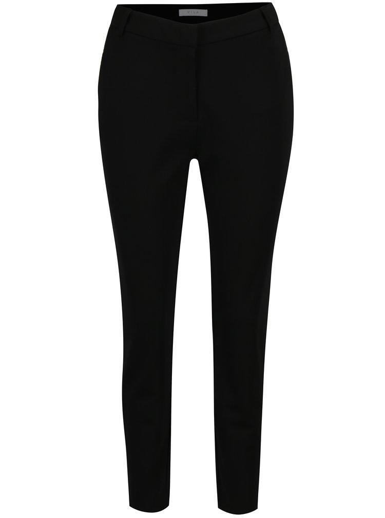 Černé kalhoty s detaily ve zlaté barvě VILA Class