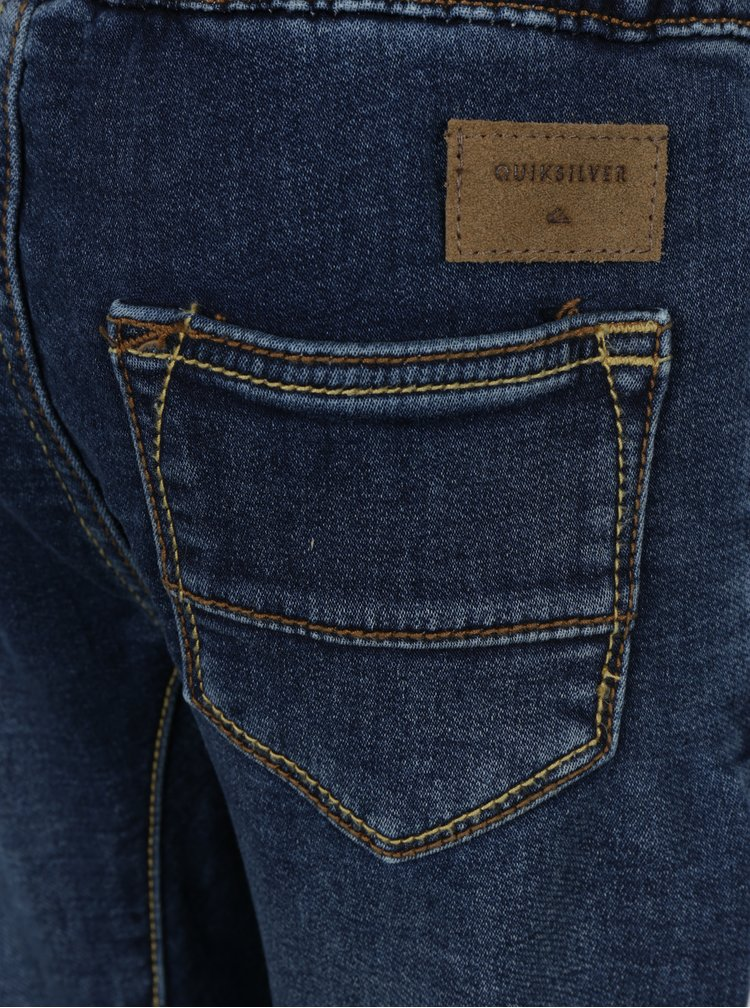 Modré klučičí slim fit džíny se stahováním v pase Quiksilver