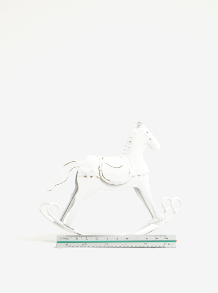 Decoratiune alba patinata in forma de balansoar caut - Dakls
