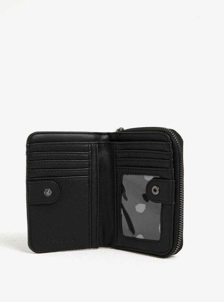 Bílo-černá vzorovaná peněženka Desigual Magnetic Sandra