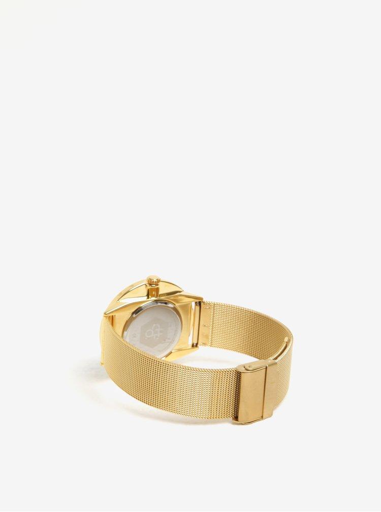 Ceas auriu cu bratara din otel inoxidabil pentru femei CHPO Nando