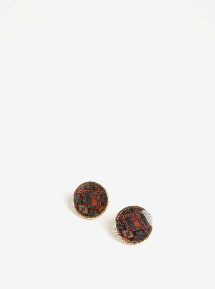 Cercei rotunzi multicolori cu surub Desigual Birmania