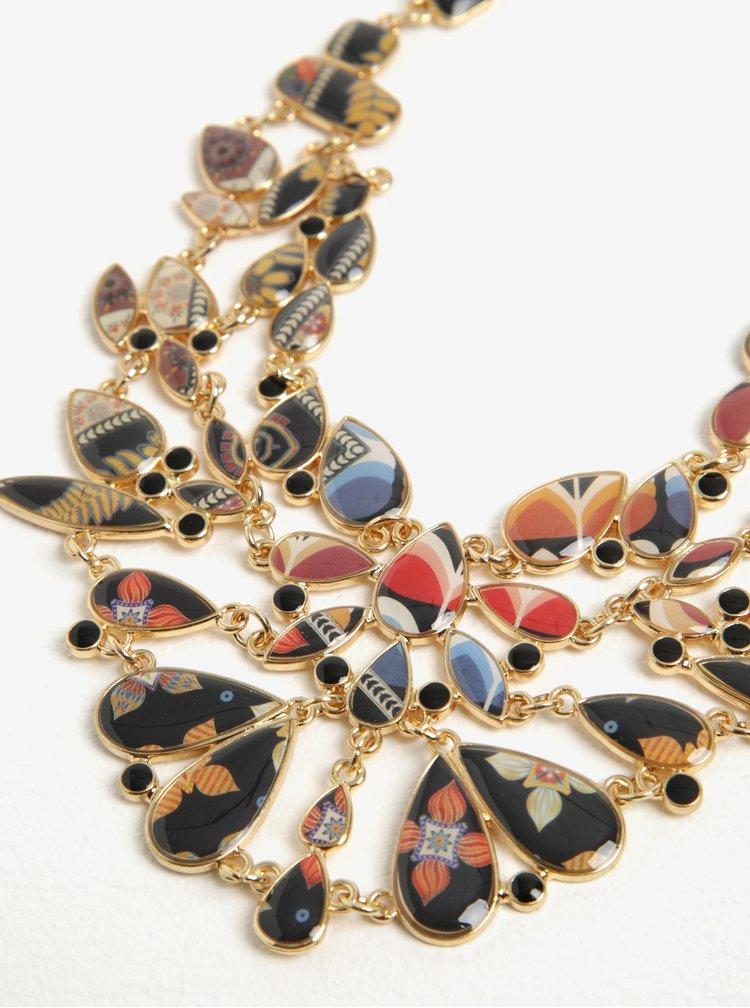 Náhrdelník ve zlaté barvě s kamínky Desigual Carry Lagrimas Gianna