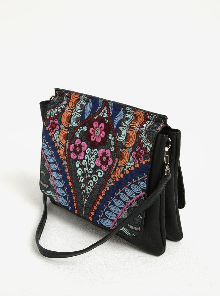 Růžovo-černá crossbody kabelka Desigual Amberes Pika