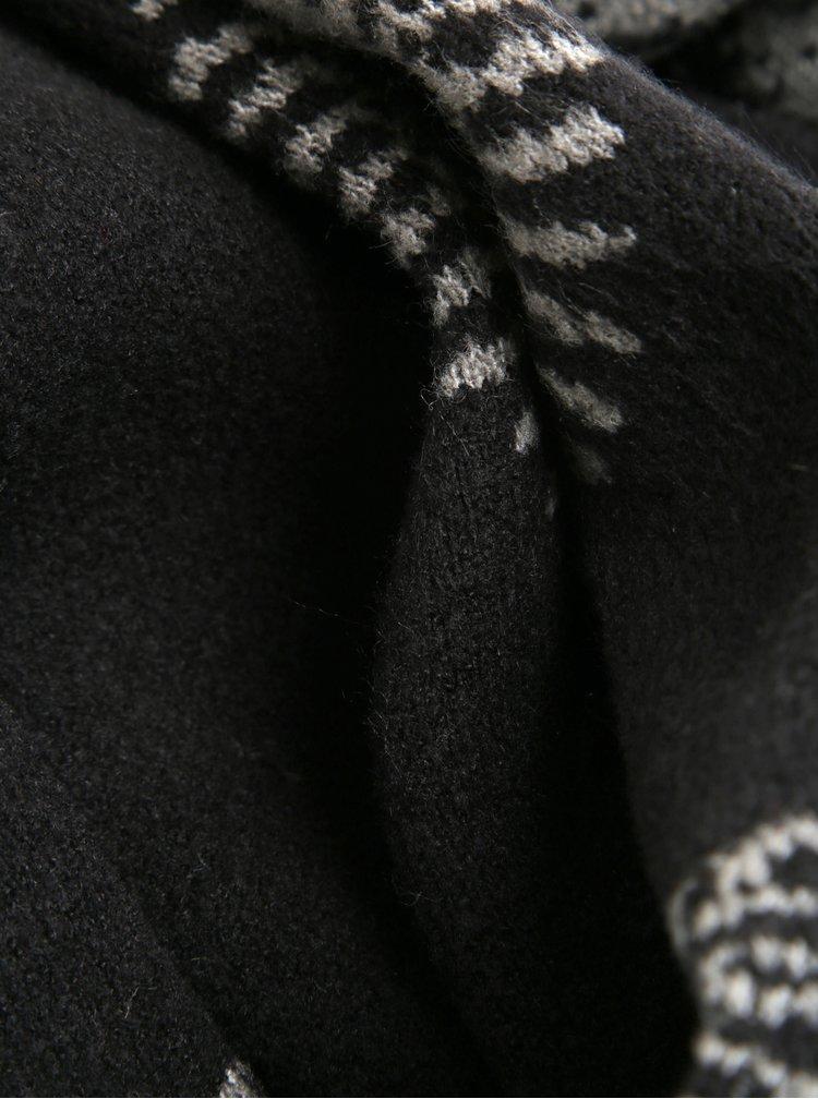 Šedo-černá vzorovaná šála Desigual Rubi