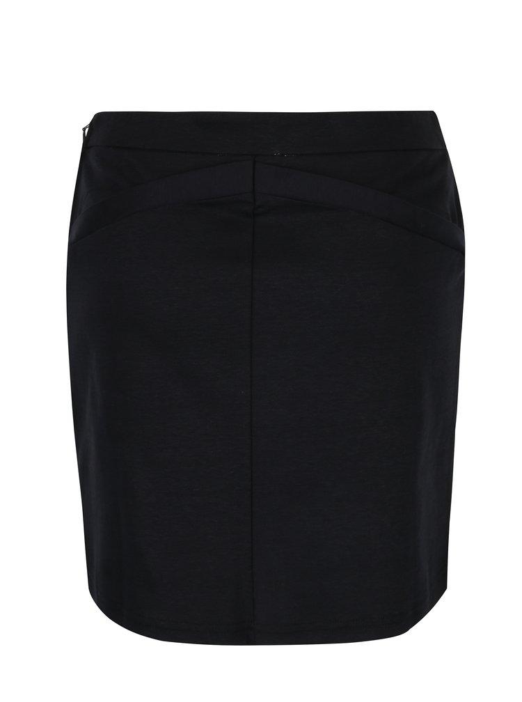 Tmavě modrá sukně s ozdobnými knoflíky Skunkfunk