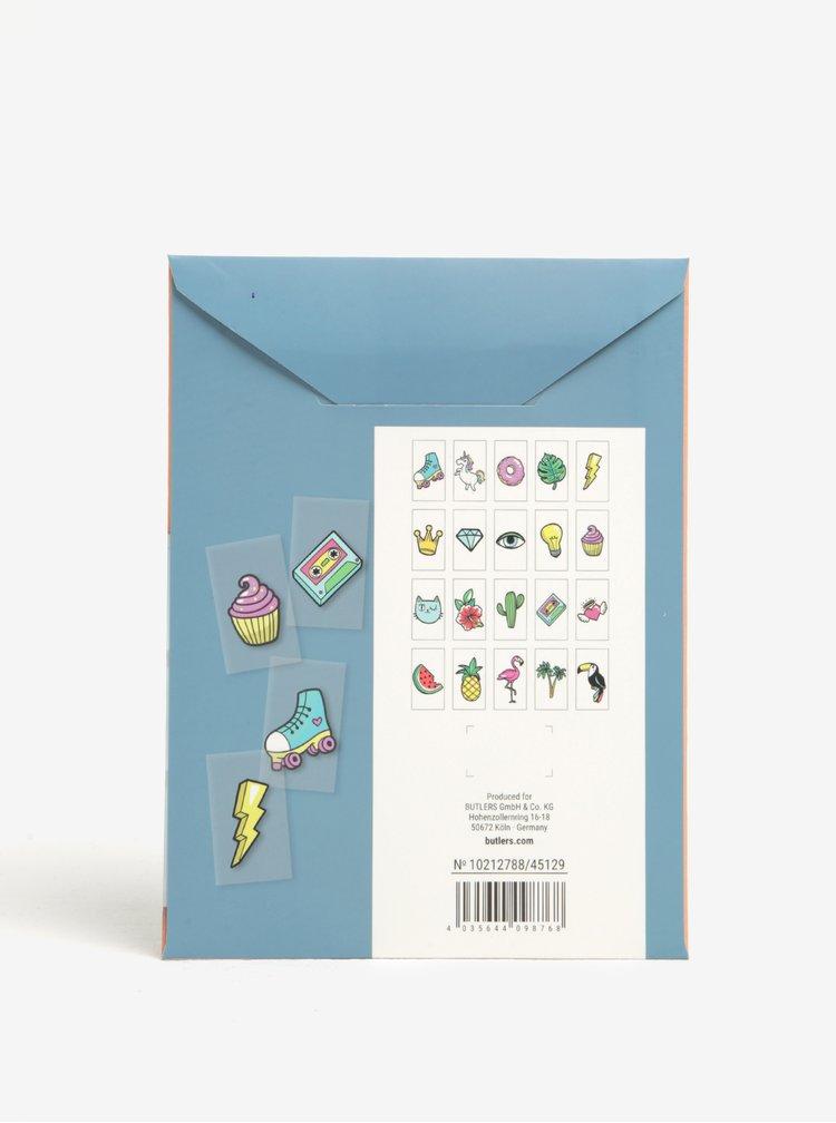 Simboluri multicolore cu tematica vacanta pentru caseta LED BUTLERS