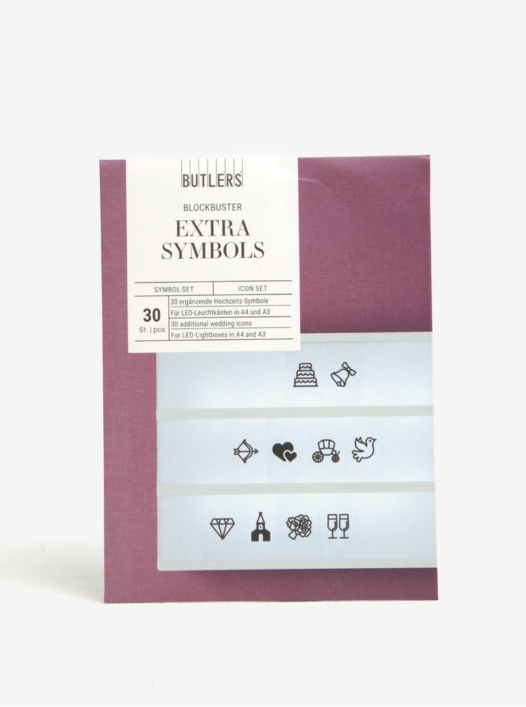 """Symboly pro světelný box """"Svatba"""" BUTLERS"""