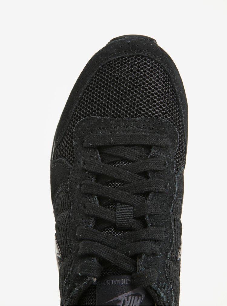 Černé dámské tenisky se semišovými detaily Nike Internationalist