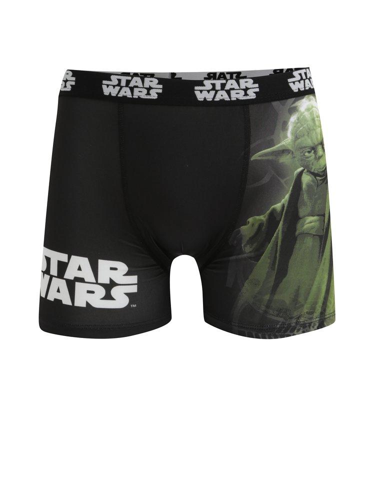Boxeri negri & verzi cu print pentru barbati Star Wars