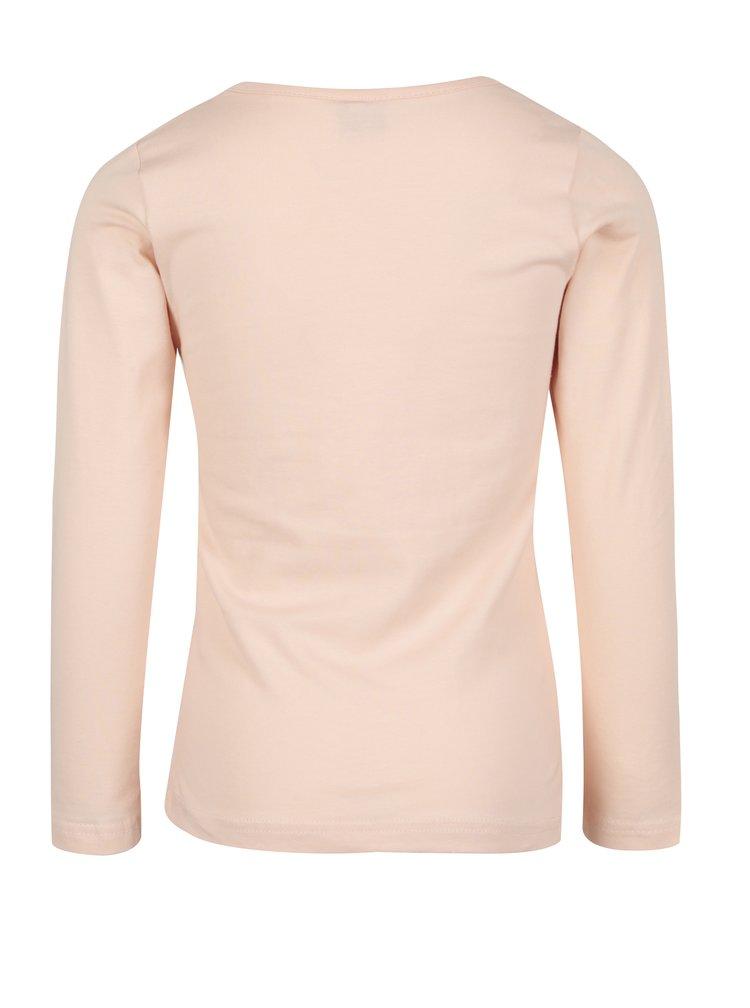 Růžové holčičí tričko s flitry Venere