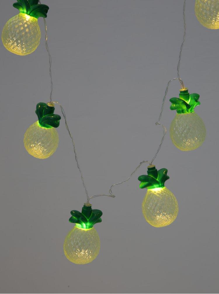 Žlutý led světelný řetěz s motivem ananasu BUTLERS