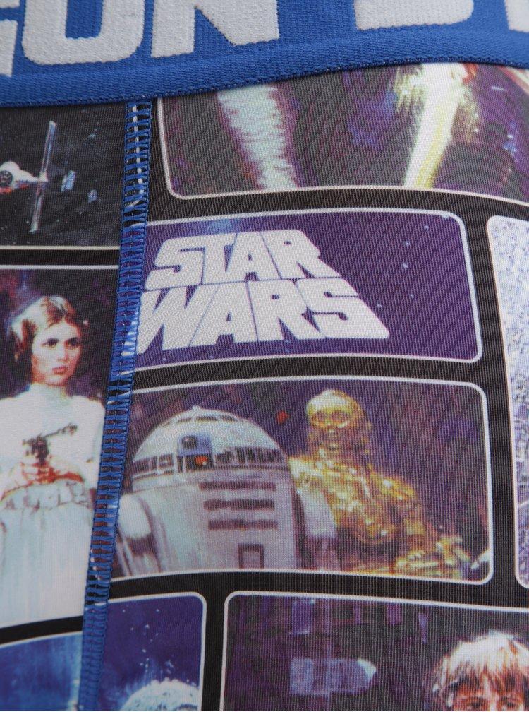 Modré pánské boxerky s potiskem Star Wars Freegun