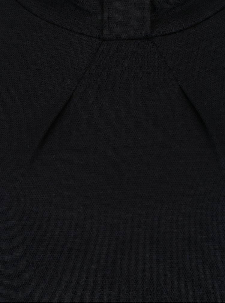Rochie neagra cu detaliu la guler Skunkfunk