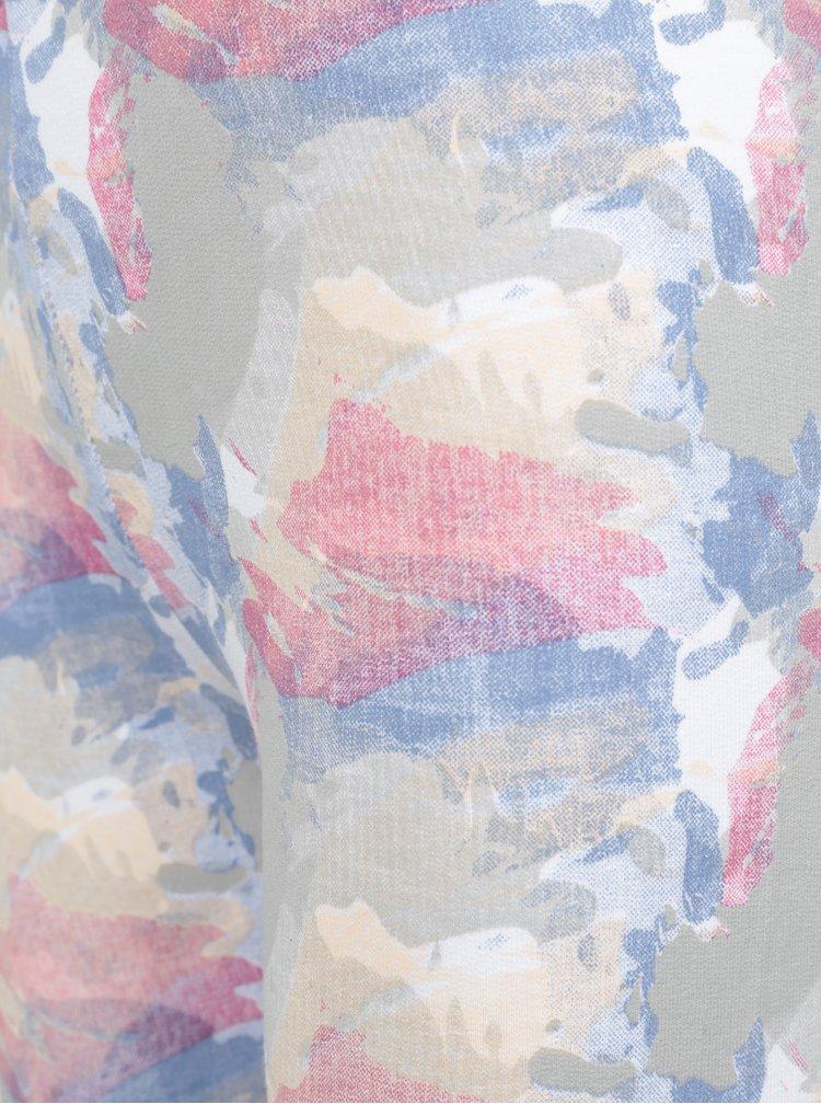 Růžovo-šedé holčičí vzorované legínyVenere