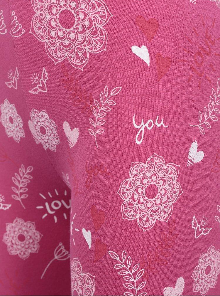 Růžové holčičí vzorované legíny Venere