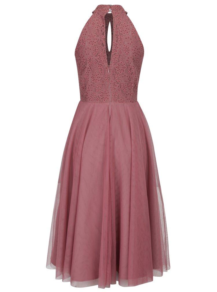Tmavě růžové šaty s tylovou sukní Little Mistress