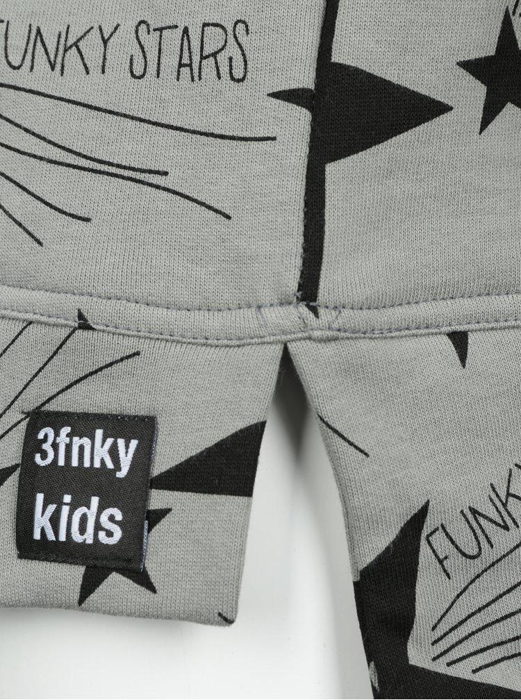Šedá dětská mikina s motivem hvězd 3fnky kids Stars