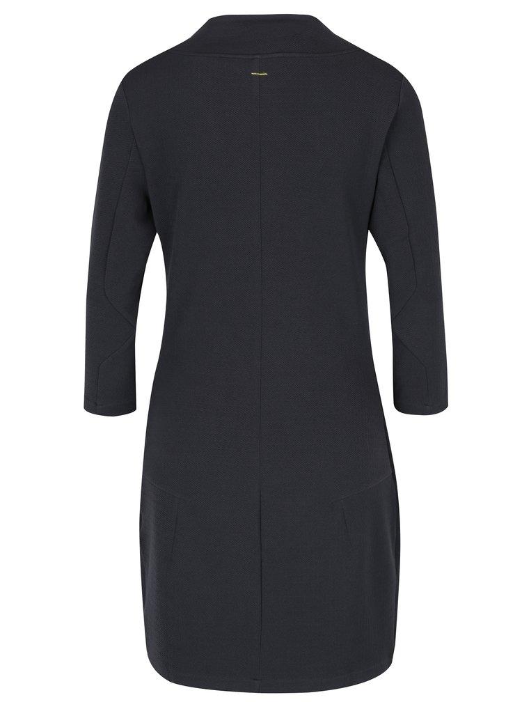 Tmavě šedé šaty s vysokým límcem Skunkfunk