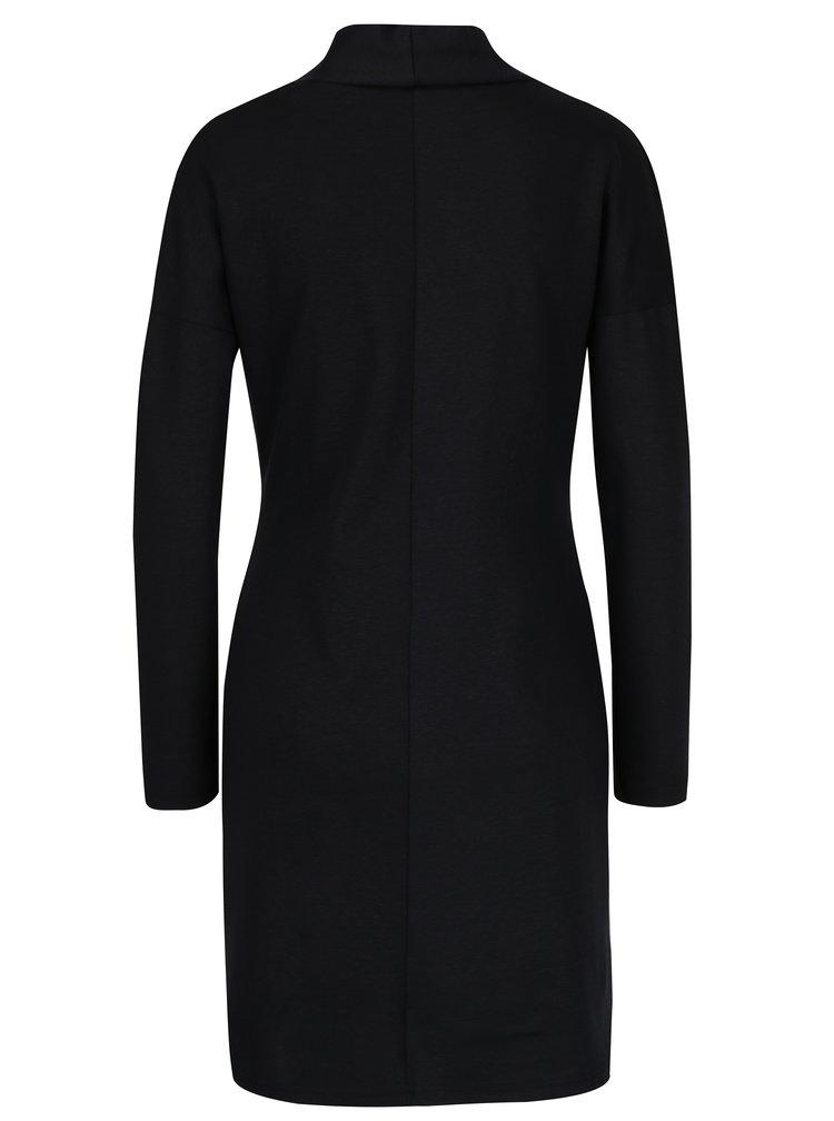 Černé zavinovací šaty na zip Skunkfunk