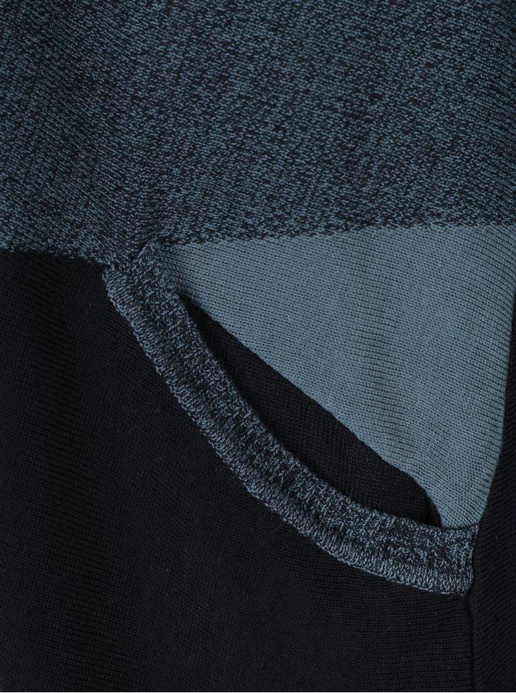 Černo-modrý kardigan s kapsami Skunkfunk