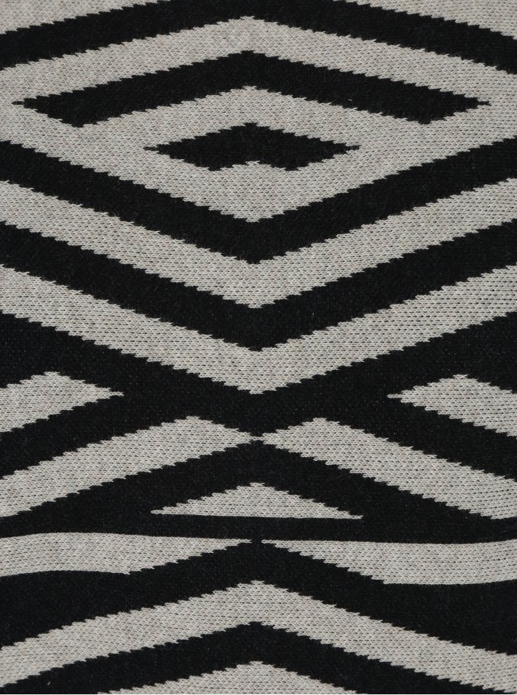 Šedo-černý vzorovaný svetr s netopýřími rukávy Skunkfunk