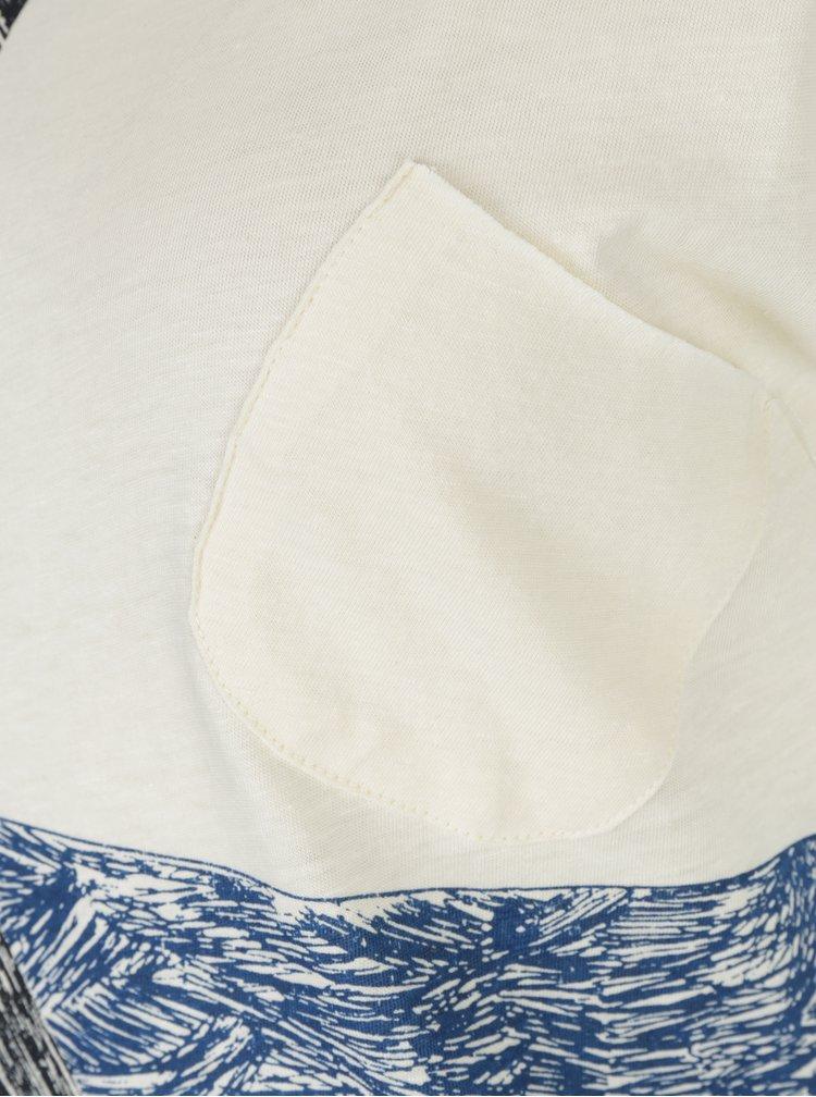 Krémové tričko s potiskem a příměsí konopí Skunkfunk