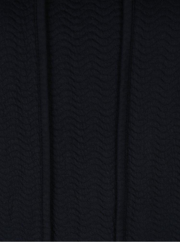 Tmavě modré šaty s vysokým límcem Skunkfunk