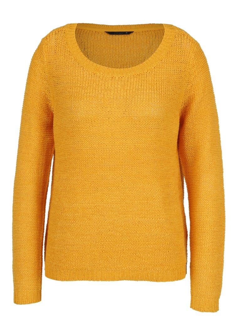 Hořčicový pletený svetr ONLY Geena